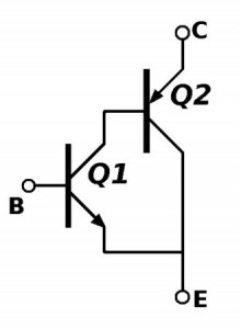 A popular transistor pairing. Often used in LDO voltage regulators, but also in power amplifiers and in many other places.