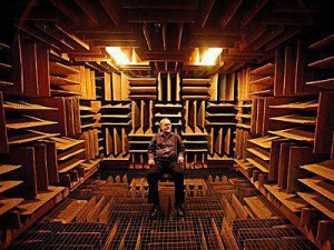 anechoic-chamber with person in it