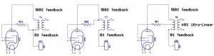 UL typical pentode - triode - & UL mode