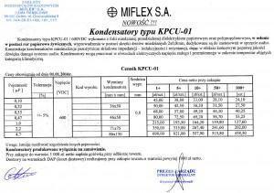 Miflex KPCU-01 Ceny